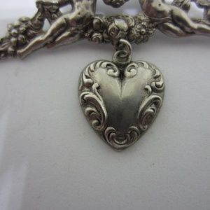 Jewelry - Two Angles with Heart Brooch